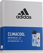 Духи, Парфюмерия, косметика Набор - Adidas Climacool For Men (deo/spray/150ml + sh/gel/250ml)