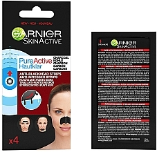 Духи, Парфюмерия, косметика Полоски от черных точек - Garnier Skin Active Pure Active Anti-Blackhead Charcoal Strips