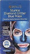 Духи, Парфюмерия, косметика Отшелушивающая маска с блестящими вкраплениями - Skinlite Starkle Diamond Glitter Blue Mask
