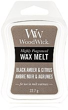 Духи, Парфюмерия, косметика Ароматический воск - WoodWick Wax Melt Black Amber & Citrus
