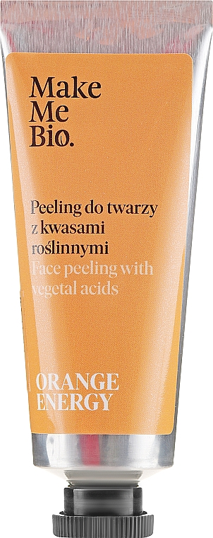 Пилинг для лица с растительными кислотами - Make Me Bio Orange Energy Face Peeling With Vegetal Acids — фото N1