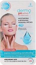 Духи, Парфюмерия, косметика Гель-патчи под глаза - Dermo Pharma 4D Moisturizing & Refreshing Gel Patches
