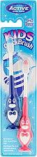 Духи, Парфюмерия, косметика Набор зубных щеток, 3-6 лет, пингвин, синяя и розовая - Beauty Formulas Kids Quick Brush