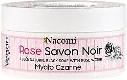 Духи, Парфюмерия, косметика Черное мыло с розовой водой - Nacomi Savon Noir Natural Black Soap with Rode Water