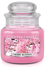 "Духи, Парфюмерия, косметика Ароматическая свеча ""Цветущая вишня"" (банка) - Country Candle Cherry Blossom"