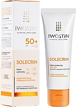 Духи, Парфюмерия, косметика Солнцезащитный крем - Iwostin Solecrin Lucidin Protective Cream SPF 50+
