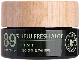 Духи, Парфюмерия, косметика Увлажняющий освежающий крем с соком алоэ вера 89% - The Saem Jeju Fresh Aloe Cream