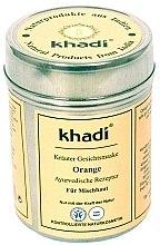 """Духи, Парфюмерия, косметика Растительная маска для лица и тела """"Orange"""" - Khadi"""