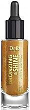 Духи, Парфюмерия, косметика Сухое золотое масло для лица, тела и волос - Delia Shape Bronzing & Shine