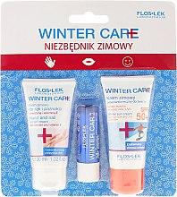 Духи, Парфюмерия, косметика Набор - Floslek Winter Care (cr/30ml + h/cr/30ml + lipstick)