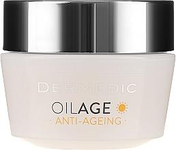 Крем дневной с фито Эстрогенами замедляющий старение кожи 40-60+ - Dermedic Oilage Tri Oleum  — фото N2