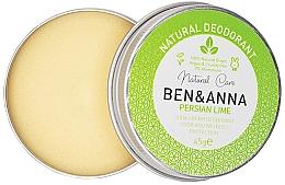 Духи, Парфюмерия, косметика Натуральный кремовый дезодорант - Ben & Anna Persian Lime Soda Cream Deodorant