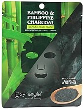 Духи, Парфюмерия, косметика Тканевая маска для лица - G-synergie Bamboo & Philippine Charcoal Face Mask