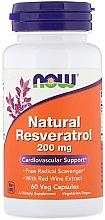 Духи, Парфюмерия, косметика Ресвератрол 200 mg - Now Foods Natural Resveratrol