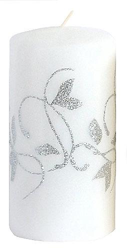 Декоративная свеча, белая, 7x14 см - Artman Amelia — фото N1