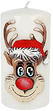 """Духи, Парфюмерия, косметика Декоративная свеча """"Рудольф"""", серая, 7х14см - Artman Christmas Candle Rudolf"""