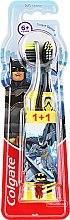 Духи, Парфюмерия, косметика Детская зубная щетка, 6+ лет, мягкая, черно-желтая + серо-желтая - Colgate Kids Soft Toothbrush
