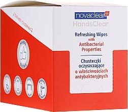 Духи, Парфюмерия, косметика Очищающие салфетки с антибактериальными свойствами - Novaclear Hands Clear Refreshing Wipe With Antibacterial Properties