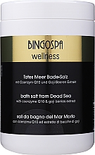Духи, Парфюмерия, косметика Спа соль из Мертвого моря с коэнзимом Q10 и экстрактом ягод годжи - BingoSpa Salt For Bath SPA of Dead Sea