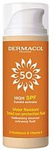Духи, Парфюмерия, косметика Водостойкий солнцезащитный тонирующий флюид - Dermacol Sun Tinted Water Resistant Fluid SPF50