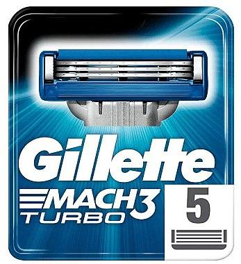 Сменные кассеты для бритья, 5шт - Gillette Mach3 Turbo — фото N1