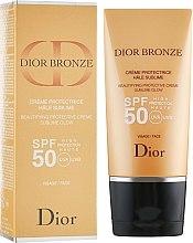 Духи, Парфюмерия, косметика Солнцезащитный крем для лица SPF50 - Dior Bronze Beautifying Protective Creme Sublime Glow
