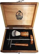 Духи, Парфюмерия, косметика Бритвенный набор - Man's Beard Barber Wood Set