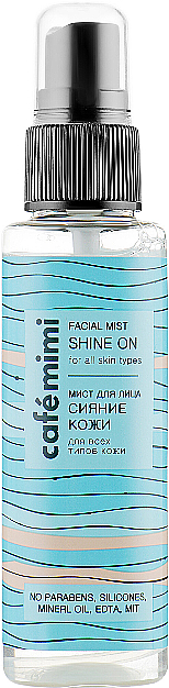 "Мист для лица ""Сияние кожи"" - Cafe Mimi Facial Mist Shine On — фото N1"