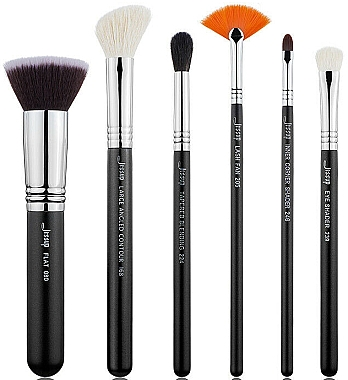 Набор кистей для макияжа, T304, 6шт - Jessup — фото N1