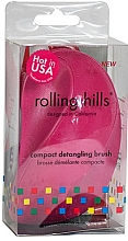 Духи, Парфюмерия, косметика Компактная расческа для волос, фуксия - Rolling Hills Compact Detangling Brush Fuschia