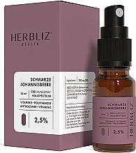 """Духи, Парфюмерия, косметика Масляный спрей для рта """"Черная смородина"""" 2,5% - Herbliz CBD Oil Mouth Spray 2,5%"""