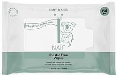 Духи, Парфюмерия, косметика Влажные салфетки - Naif Wet Wipes 54St Plastic Free