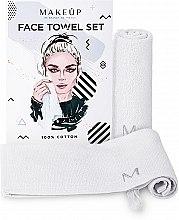 """Духи, Парфюмерия, косметика Дорожный набор полотенец для лица, белые """"MakeTravel"""" - Makeup Face Towel Set"""
