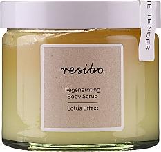 Духи, Парфюмерия, косметика Восстанавливающий скраб для тела - Resibo Regenerating Body Scrub Lotus Effect