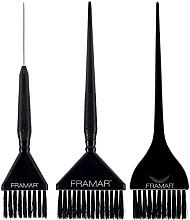 Духи, Парфюмерия, косметика Набор кистей для окрашивания, черный - Framar 3 Piece Color Brush Set
