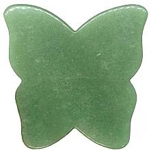 Духи, Парфюмерия, косметика Массажер для лица - Crystallove Butterfly Aventurine Gua Sha