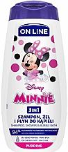 Духи, Парфюмерия, косметика Гель-шампунь и пена для ванны 3в1 с ароматом пудинга - On Line Kids Disney Minnie