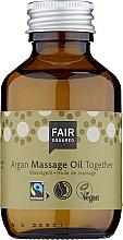 Духи, Парфюмерия, косметика Массажное масло для тела - Fair Squared Argan Massage Oil Together