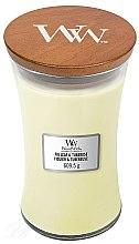 Духи, Парфюмерия, косметика Ароматическая свеча в стакане - WoodWick Hourglass Candle Fig Leaf and Tuberose
