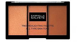 Духи, Парфюмерия, косметика Палетка хайлайтеров - Gabriella Salvete Trio Highlighting Palette
