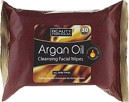 Духи, Парфюмерия, косметика Салфетки для лица, очищающие - Beauty Formulas Argan Oil Cleansing Facial Wipes