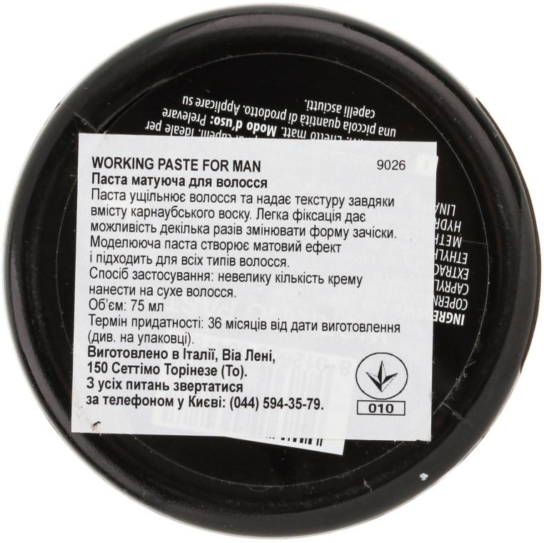 Матирующая паста для волос - Vitality's For Man Working Paste — фото N3