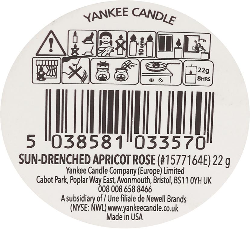 Ароматический воск - Yankee Candle Sun-Drenched Apricot Rose — фото N3