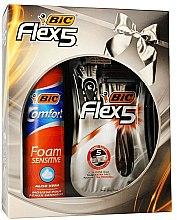 Духи, Парфюмерия, косметика Набор - Bic Flex 5 Comfort (razor/3pcs + foam/200ml)