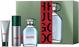 Духи, Парфюмерия, косметика Hugo Boss Hugo Men - Набор (edt/125ml+ deo/150ml + sh/gel/50ml)