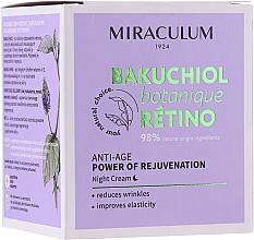 Духи, Парфюмерия, косметика Ночной крем для лица - Miraculum Bakuchiol Botanique Retino Anti-Age Cream