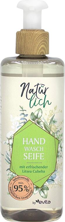 Жидкое мыло для рук с эфирным маслом - Evita Naturlich Eco Liquid Soap Litsea Cubea — фото N1