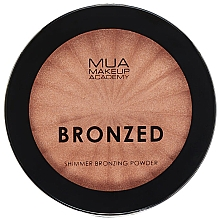 Духи, Парфюмерия, косметика Бронзирующая сияющая пудра для лица - MUA Bronzed Shimmer Bronzing Powder Solar Shimmer