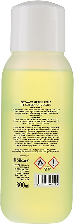 Жидкость для снятия лака - Silcare The Garden Of Colour Polish Remover Green Apple — фото N2