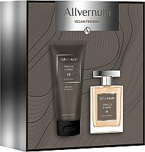 Духи, Парфюмерия, косметика Allvernum Tobacco & Amber - Набор (edp/100ml + sh/gel/200ml)